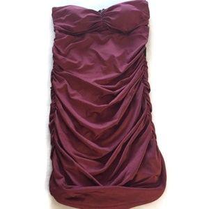 Dresses & Skirts - Burgundy strapless dress